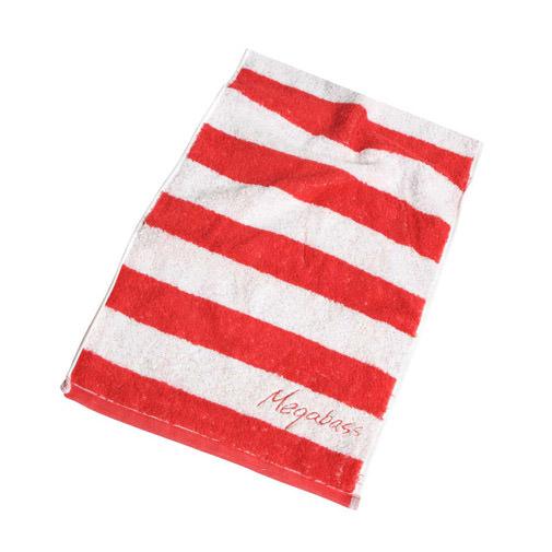 Megabass Sports Measure Towel RED/WHITE