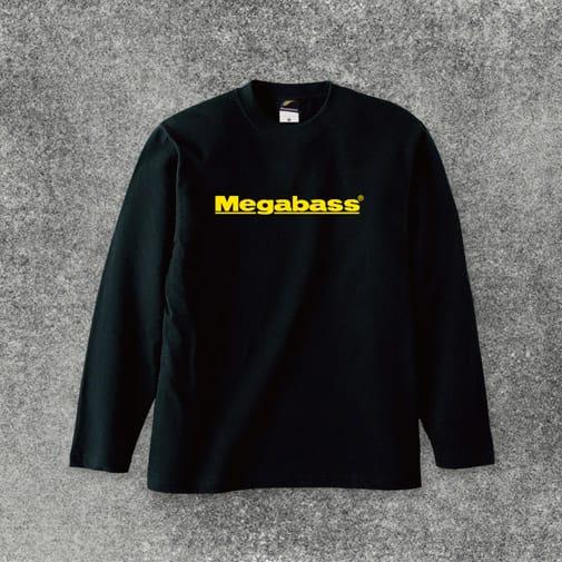 MEGABASS LOGO LONG T-SHIRTS(メガバスロゴロングTシャツ) ブラック イエローロゴ