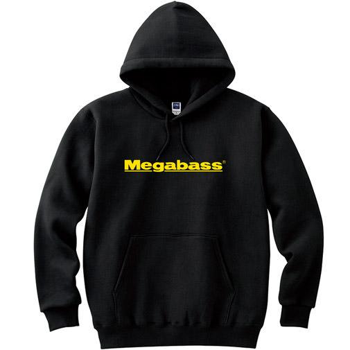 MEGABASS LOGO PARKA ブラック イエローロゴ