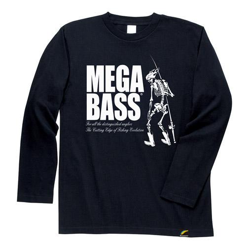 【1月中旬発送】MEGABASS SKULL LONG T-SHIRT ブラック