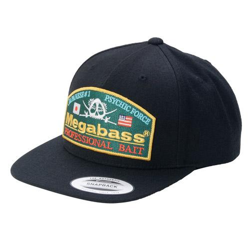 【3月末発送】MEGABASS CAP PSYCHIC SNAPBACK BLACK/GREEN(サイキックスナップバック・ブラック/グリーン)