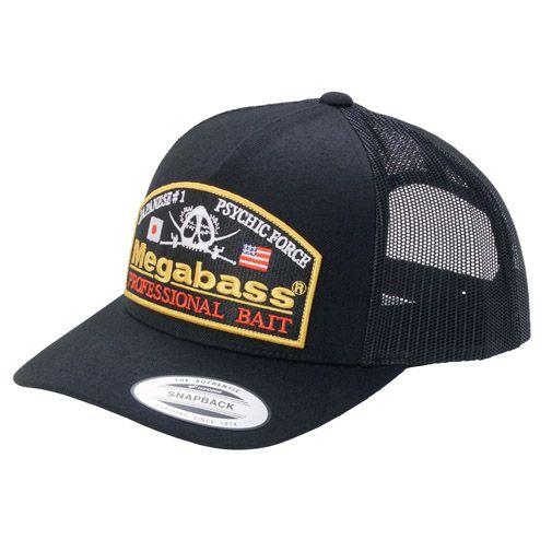 【10月末発送】MEGABASS CAP PSYCHIC TRUCKER BLACK/BLACK(サイキックトラッカー・ブラック/ブラック)