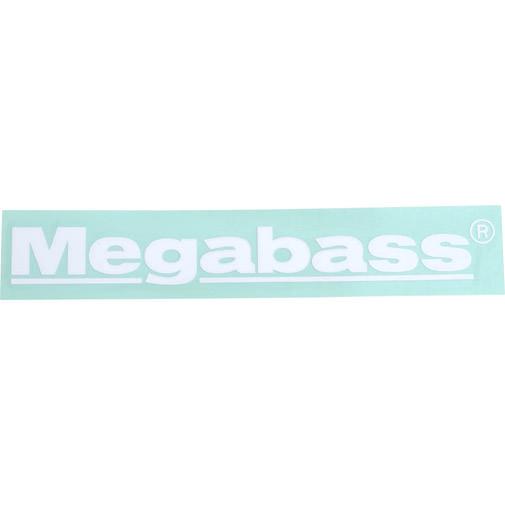 ステッカー Megabass 10cm ホワイト