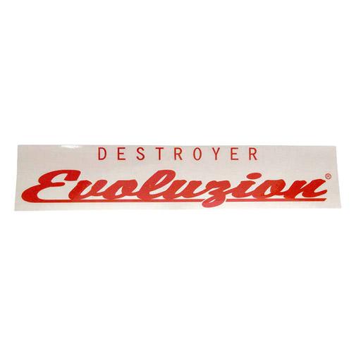 ステッカー EVOLUZION レッド 40cm